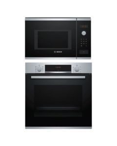 Bosch Oven + Microwave Combo STAINLESS STEEL + BLACK Finish BOOM-05