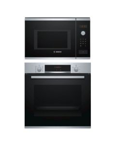 Bosch Oven + Microwave Combo STAINLESS STEEL + BLACK Finish BOOM-06