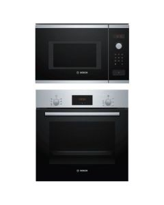 Bosch Oven + Microwave Combo STAINLESS STEEL + BLACK Finish BOOM-04