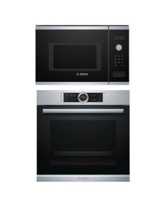 Bosch Oven + Microwave Combo STAINLESS STEEL + BLACK Finish BOOM-07