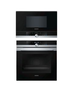 Siemens Oven And Microwave Combo BLACK GLASS COMBO 72