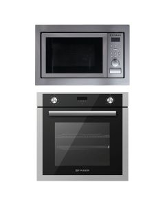 Elica Oven And Microwave Combo BLACK GLASS COMBO 12
