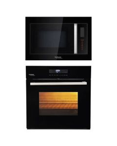 Hindware Oven And Microwave Combo BLACK GLASS COMBO 20