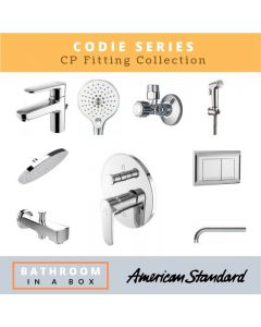 American Standard CP Fittings Bundle Codie Series Chrome Finish with 8 Inches Rain Shower AS 004