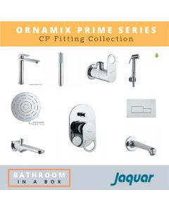 Jaquar CP Fittings Bundle Ornamix Prime Series Chrome Finish with 6 Inches Rain Shower JAQ 002