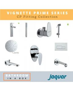 Jaquar CP Fittings Bundle Vignette Prime Series Chrome Finish with 6 Inches Rain Shower JAQ 004