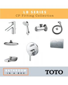 Toto CP Fittings Bundle LB Series Chrome Finish with 8 Inches Rain Shower TOT 003