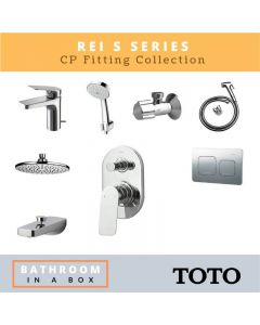Toto CP Fittings Bundle REI-S Series Chrome Finish with 8 Inches Rain Shower TOT 002
