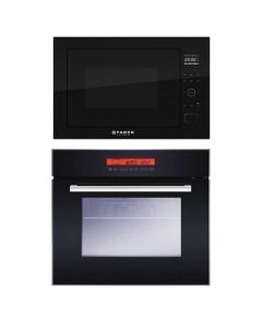 Faber Oven And Microwave Combo BLACK GLASS COMBO 09