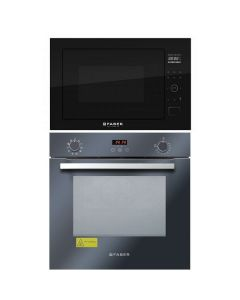 Faber Oven And Microwave Combo BLACK GLASS COMBO 10