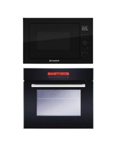 Faber Oven And Microwave Combo BLACK GLASS COMBO 63