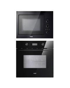 Glen Oven And Microwave Combo BLACK GLASS COMBO 65