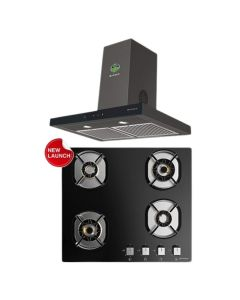 Faber Chimney And Hob Combo BLACK GLASS COMBO 22