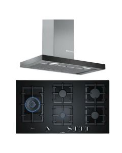 Bosch Chimney And Hob Combo STAINLESS STEEL + BLACK GLASS COMBO 29
